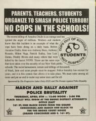 Parents, Teachers, Students Organize to Smash Police Terror! No Cops in the School!