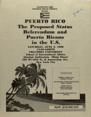 Puerto Rico: The Proposed Status Referendum and Puerto Ricans in the U.S.