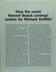 Stop the racist Howard Beach coverup! Justice for Michael Griffith