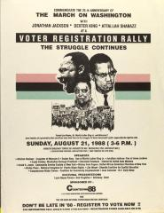 Voter Registration Rally - The Struggle Continues