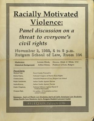 Racially Motivated Violence: Panel discussion on a threat to everyone's civil rights