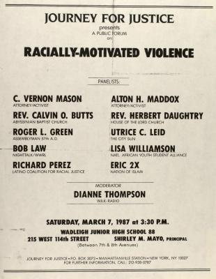 A Public Forum on Racially-Motivated Violence