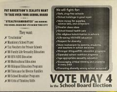 Vote May 4 in the School Board Election