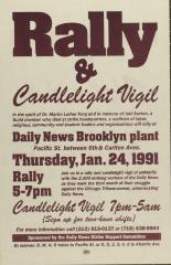 Manifestación Y Velada / Rally & Candlelight Vigil