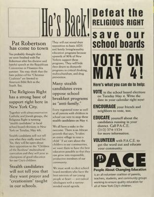 Defeat the Religious Right - Save Our School Boards