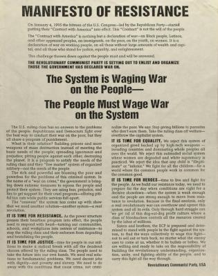Manifesto of Resistance