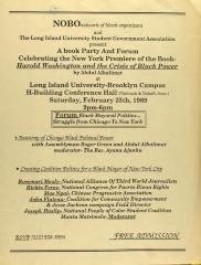Party and forum for Harold Washington and the Crisis of Black Power