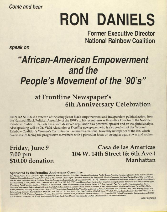 African-American Empowerment and the People's Movement of the 90's