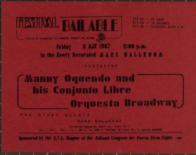 Manny Oquendo and his Conjunto Libre Orquesta Broadway