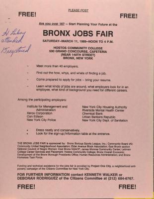 Bronx Jobs Fair