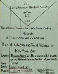 Racial Attacks and Racial Violence in New York City