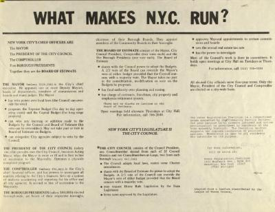 What Makes N.Y.C. Run?