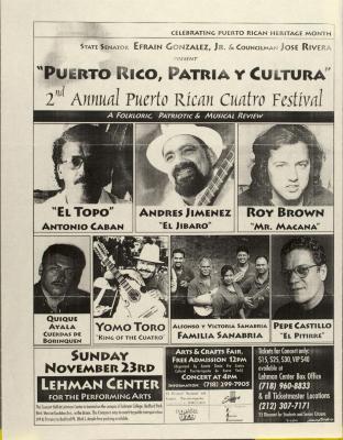Puerto Rico, Patria, y Cultura