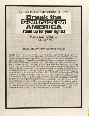 Break the Contract on America - Stand Up For Your Rights