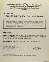 A Forum on POLICE BRUTALITY: The Legal Reality