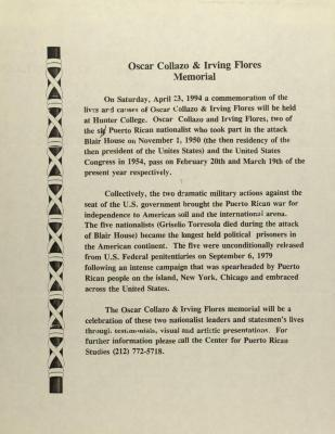 Oscar Collazo and Irving Flores Memorial