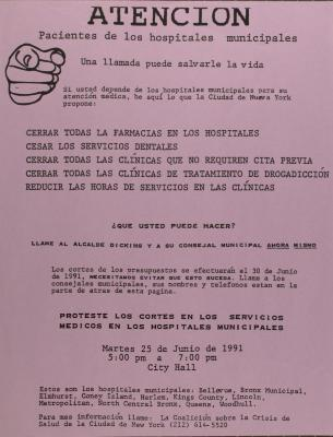 Atención Pacientes de Hospitales Municipales / Attention Patients of Municipal Hospitals