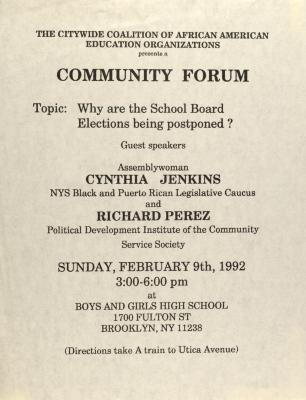 Community Forum: Why Are the School Board Elections Being Postponed?