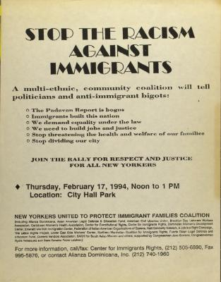 Stop the Racism Against Immigrants