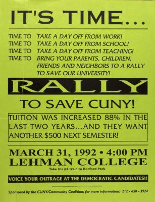 Rally to Save CUNY!