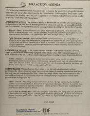1995 Action Agenda