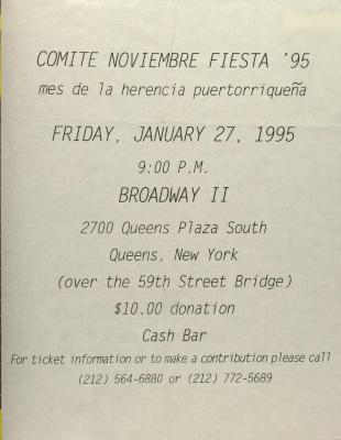 Comité Noviembre Fiesta '95