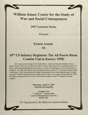 65th US Infantry Regiment: The All Puerto Rican Combat Unit in Korea