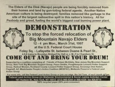 Demonstration to Stop the Relocation of Big Mountain Navajo Elders
