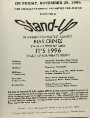 Stand-Up in a March to Protest Against Bias Crimes