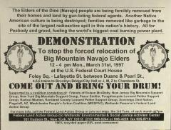 Demonstration to Stop the Relocation of Big Mountain Navajo Elders