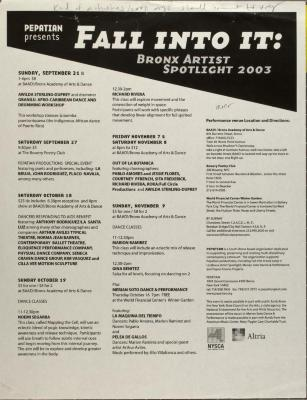 Fall Into It: Bronx Artist Spotlight 2003