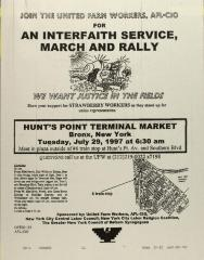 Join The United Farm Workers, AFL-CIO For An Interfaith Service, Music And Rally