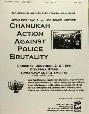Chanukah Action Against Police Brutality
