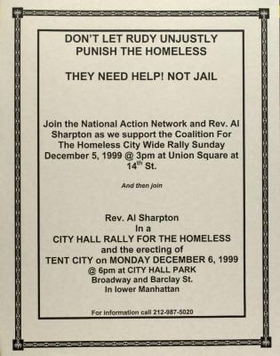 Don't Let Rudy Unjustly Punish the Homeless - They Need Help! Not Jail