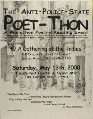The Anti-Police State Poet-Thon