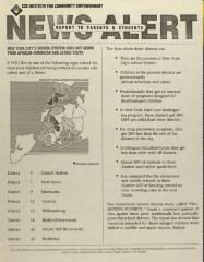 News Alert - Report to Parents & Students