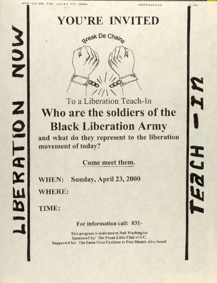 Who are the Soldiers of the Black Liberation Army?