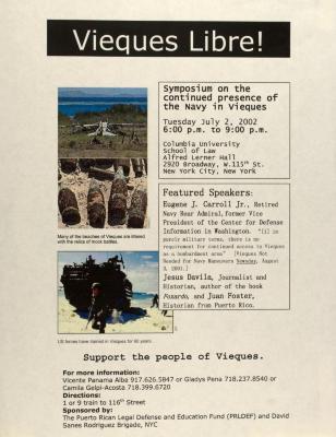 Vieques Libre! / Free Vieques!