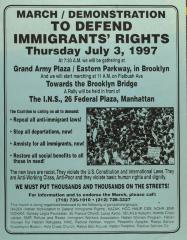 March/Demonstration to Defend Immigrants' Rights