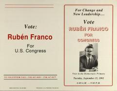 Vote Rubén Franco for Congress