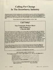 Calling for Change in the Strawberry Industry