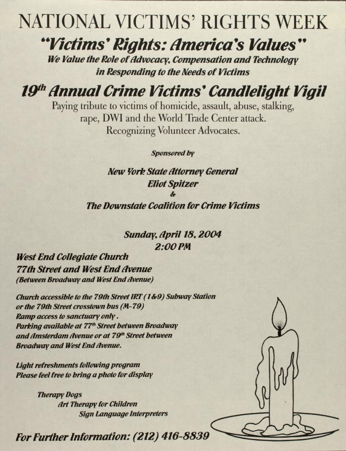 19th Annual Crime Victims' Candlelight Vigil