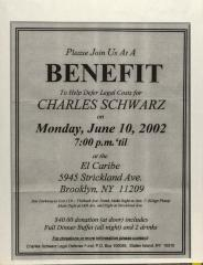 Benefit to Help Defer Legal Costs for Charles Schwartz