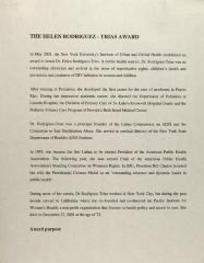 The Helen Rodríguez-Trías Award