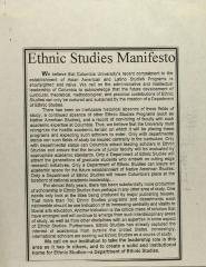 Ethnic Studies Manifesto