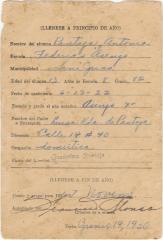 Report Card/ Informe de Trabajo Escolar de Antonia Pantoja