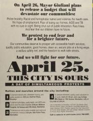 April 25. This City is Ours - A Day of Simultaneous Protests