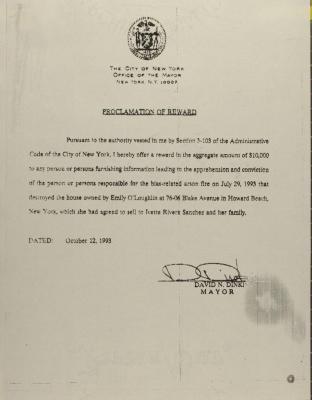 Proclamation of Reward