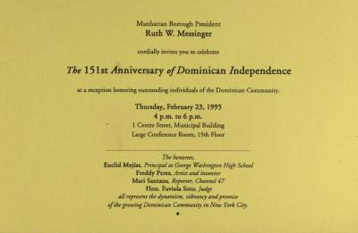 The 151st Anniversary of Dominican Independence