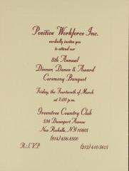 8th Annual Dinner, Dance & Award Ceremony Banquet for Positive Workforce, Inc.
